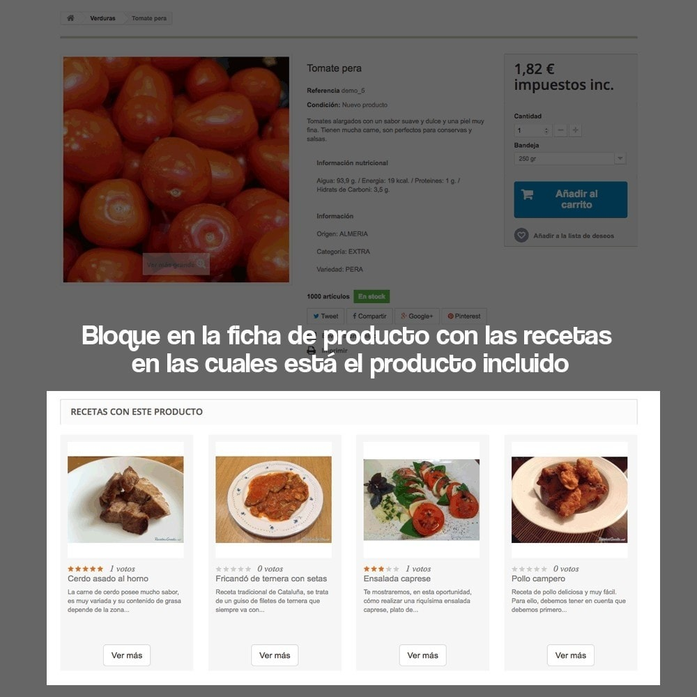 module - Blog, Foro y Noticias - Gestor de recetas con los productos de la tienda - 11