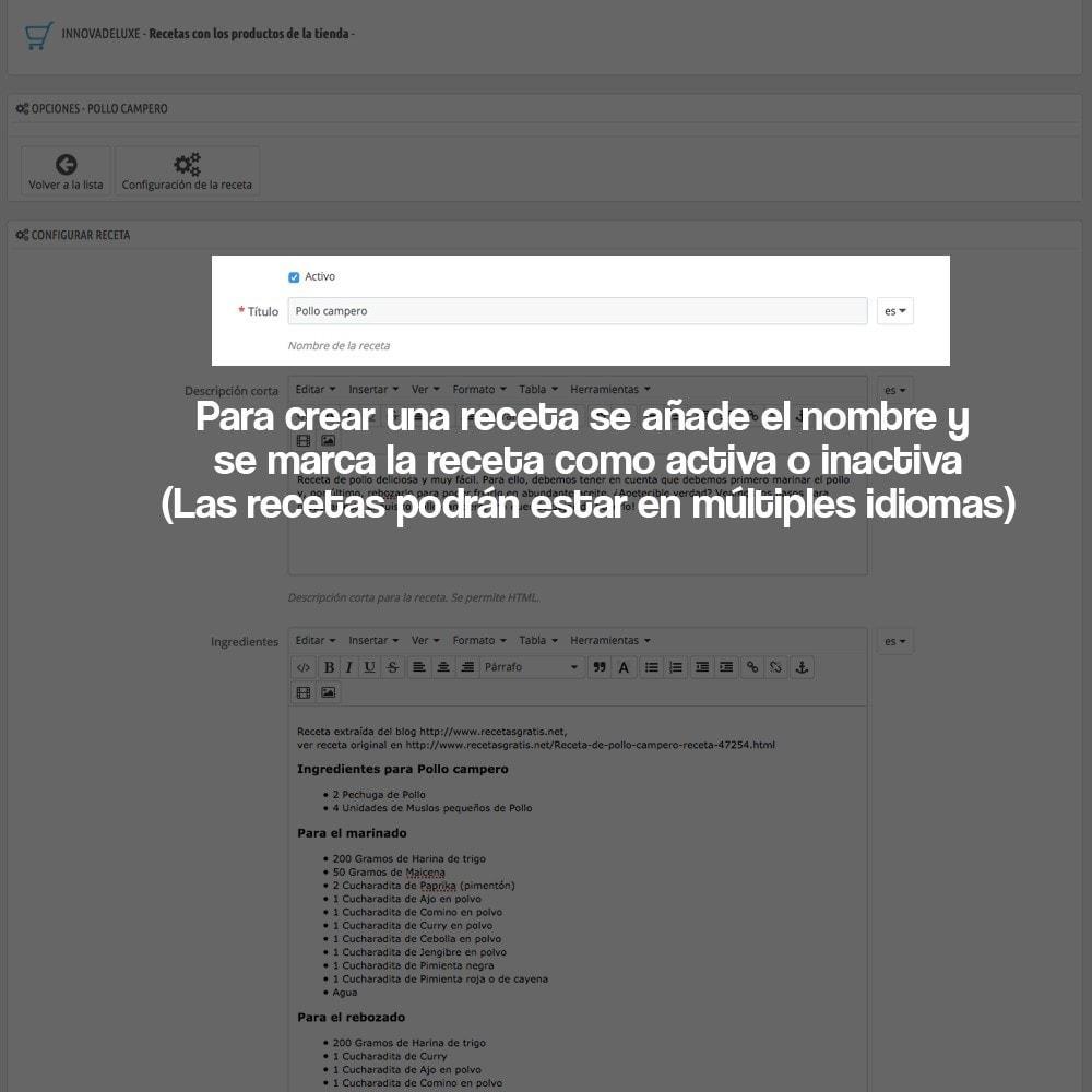 module - Blog, Foro y Noticias - Gestor de recetas con los productos de la tienda - 20