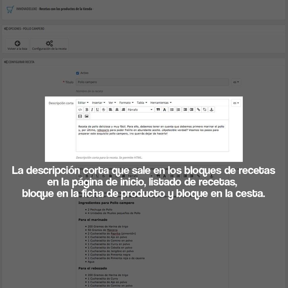 module - Blog, Foro y Noticias - Gestor de recetas con los productos de la tienda - 21