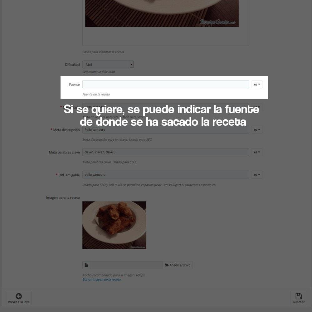 module - Blog, Foro y Noticias - Gestor de recetas con los productos de la tienda - 25