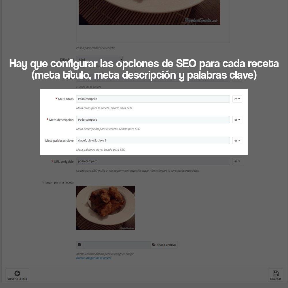 module - Blog, Foro y Noticias - Gestor de recetas con los productos de la tienda - 26