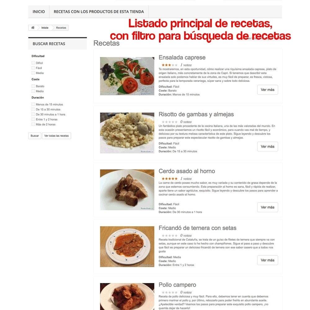 module - Blog, Foro y Noticias - Gestor de recetas con los productos de la tienda - 31