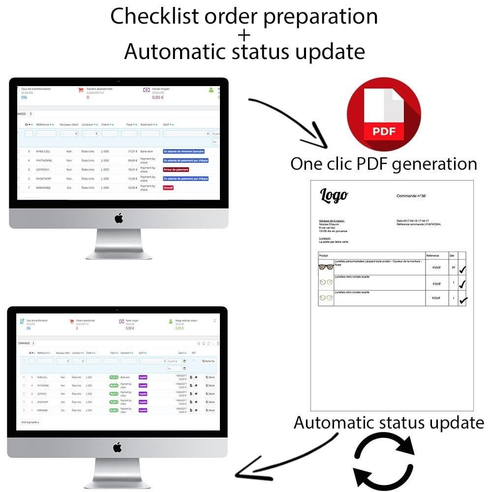 module - Orderbeheer - Checklist order preparation + Automatic status update - 1