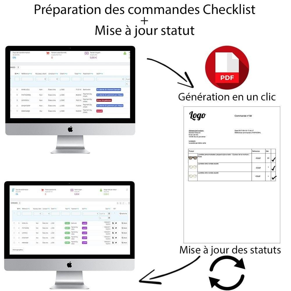 module - Gestion des Commandes - Checklist préparation commandes + Mise à jour statut - 1