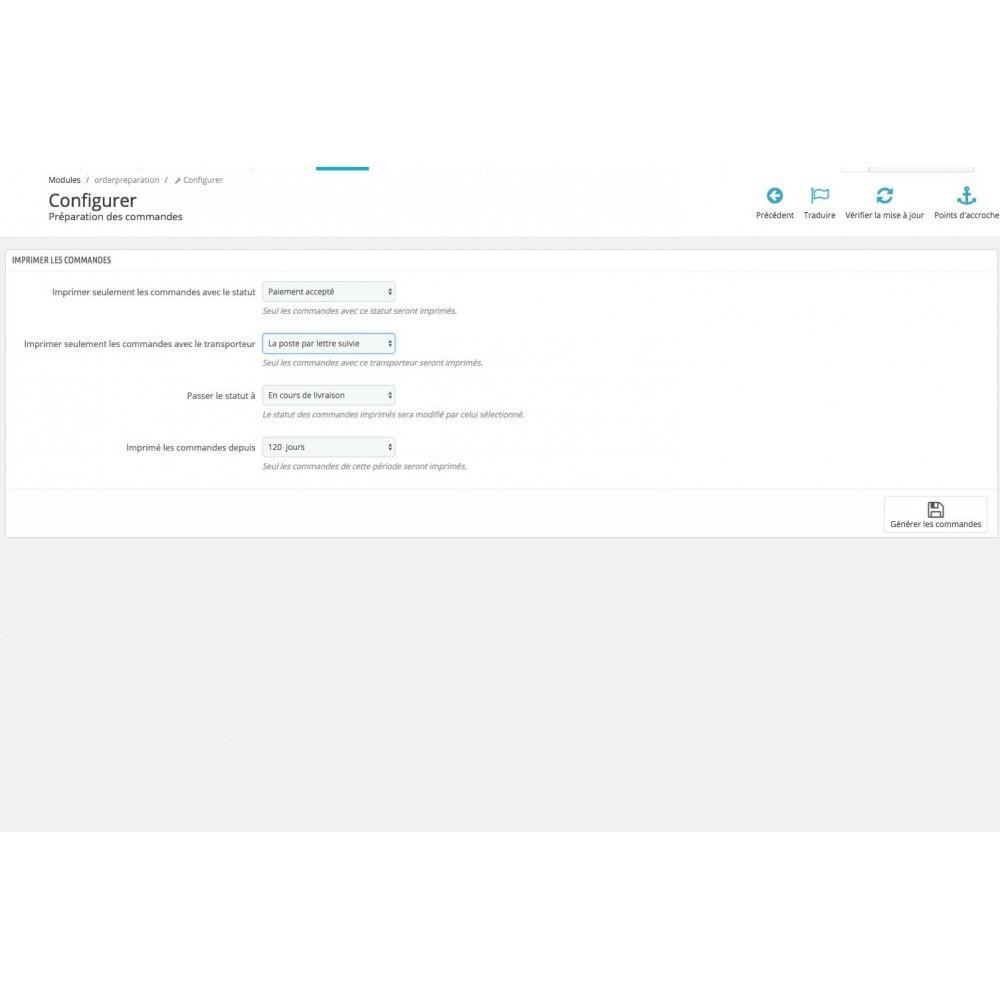 module - Gestion des Commandes - Checklist préparation commandes + Mise à jour statut - 2