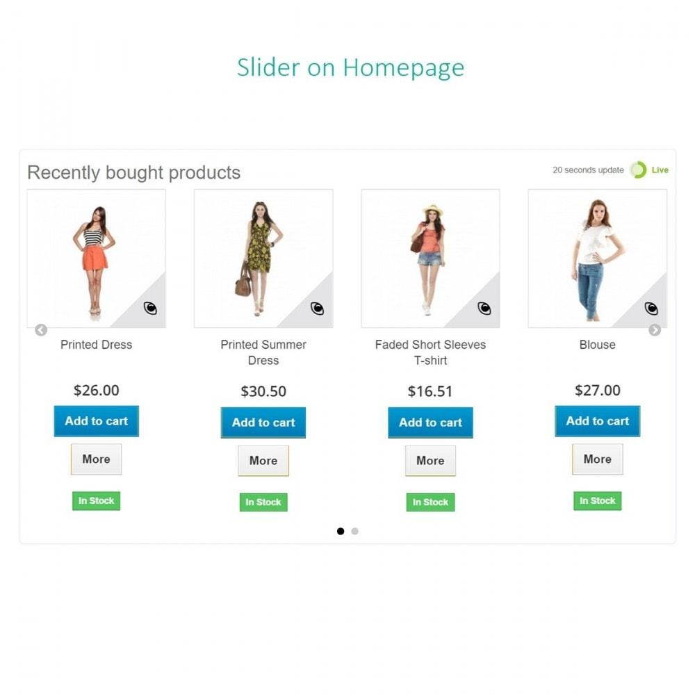 module - Gestión de Pedidos - Pedidos recientes - Productos comprados recientemente - 6