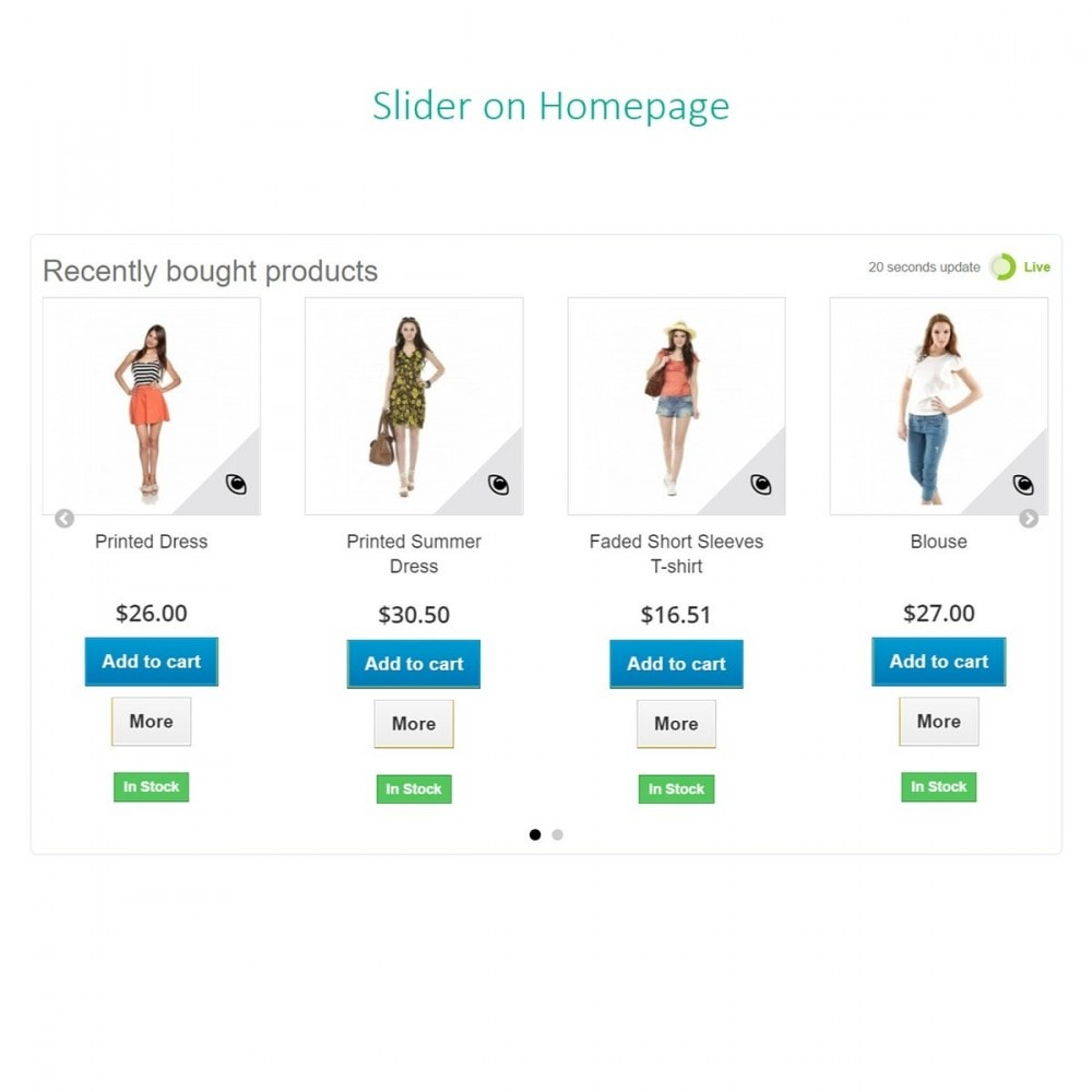 module - Auftragsabwicklung - Letzte Bestellungen - Zuletzt gekaufte Produkte - 6