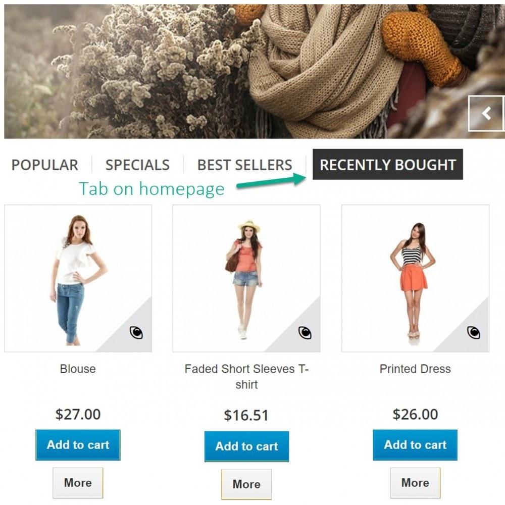 module - Orderbeheer - Recente bestellingen - Onlangs gekocht producten - 7