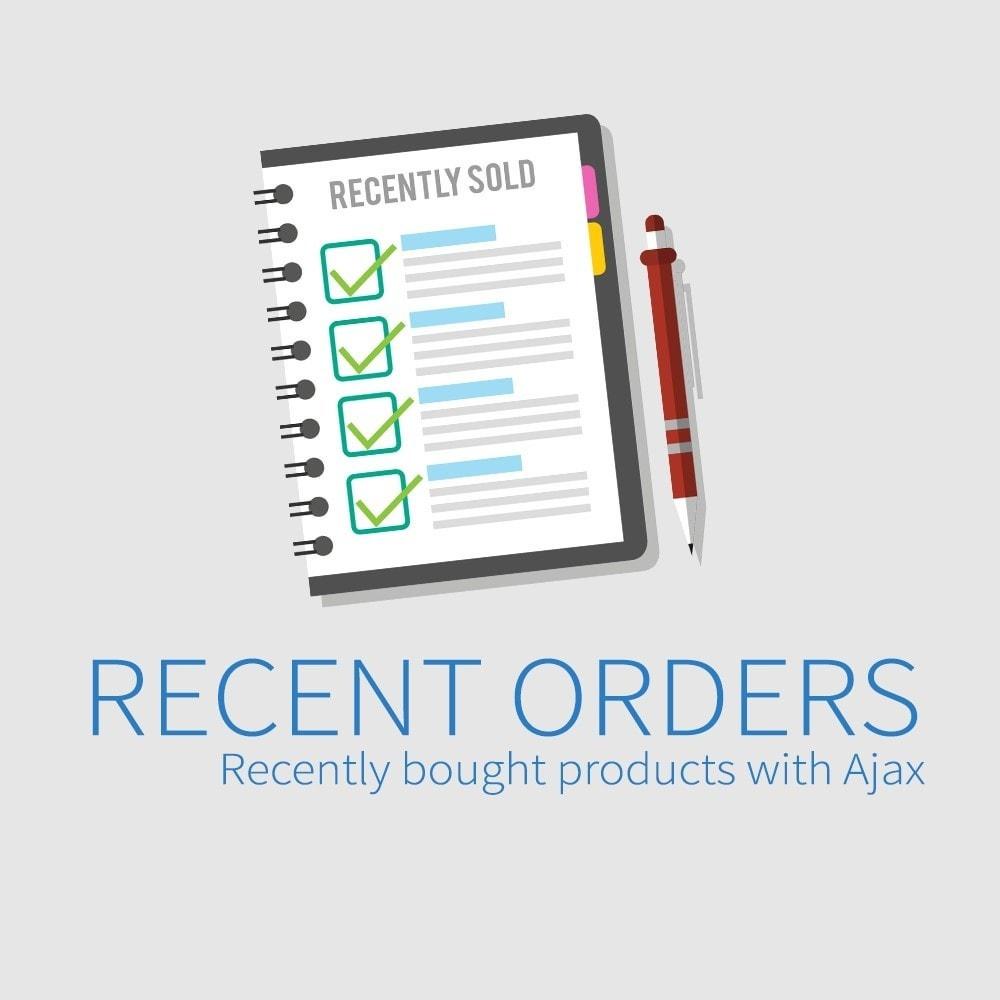 module - Управление заказами - Последние заказы - Недавно купленные продукты с Ajax - 1