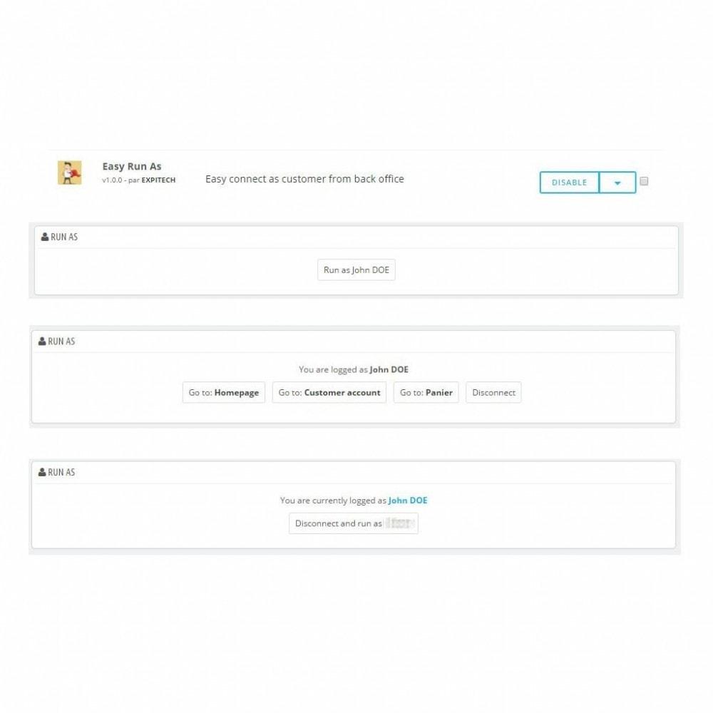 module - Social Login & Connect - Easy Run As - Super admin - Easy connect - 1