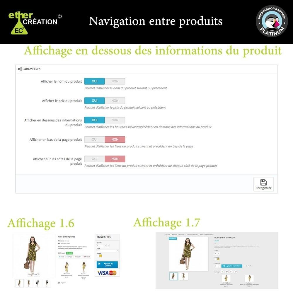module - Outils de navigation - Produit Suivant/Précédent sur page produit - 5