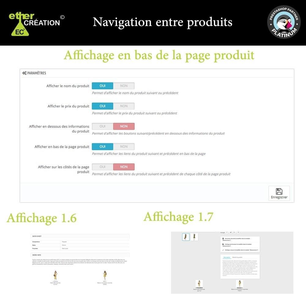 module - Outils de navigation - Produit Suivant/Précédent sur page produit - 7