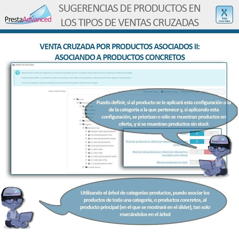 module - Ventas cruzadas y Packs de productos - Total Cross Sales - configuración de ventas cruzadas - 12