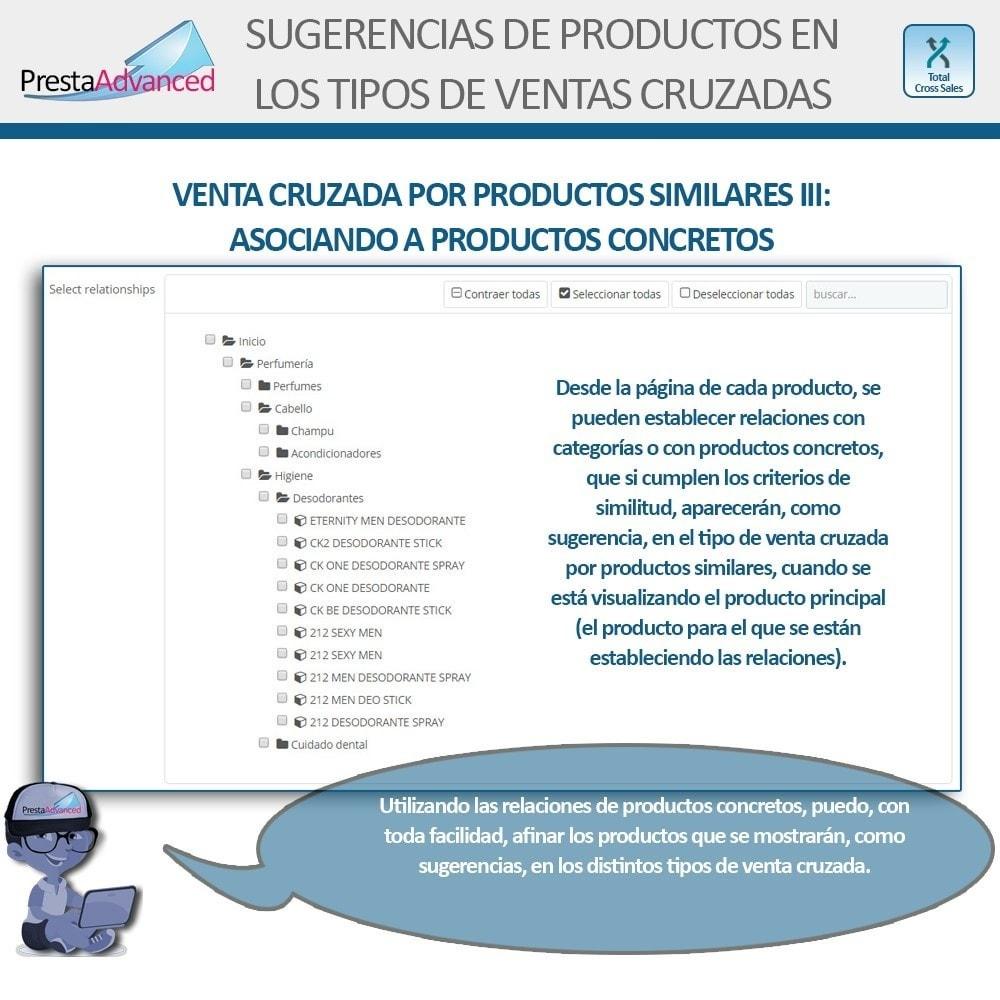 module - Ventas cruzadas y Packs de productos - Total Cross Sales - configuración de ventas cruzadas - 17