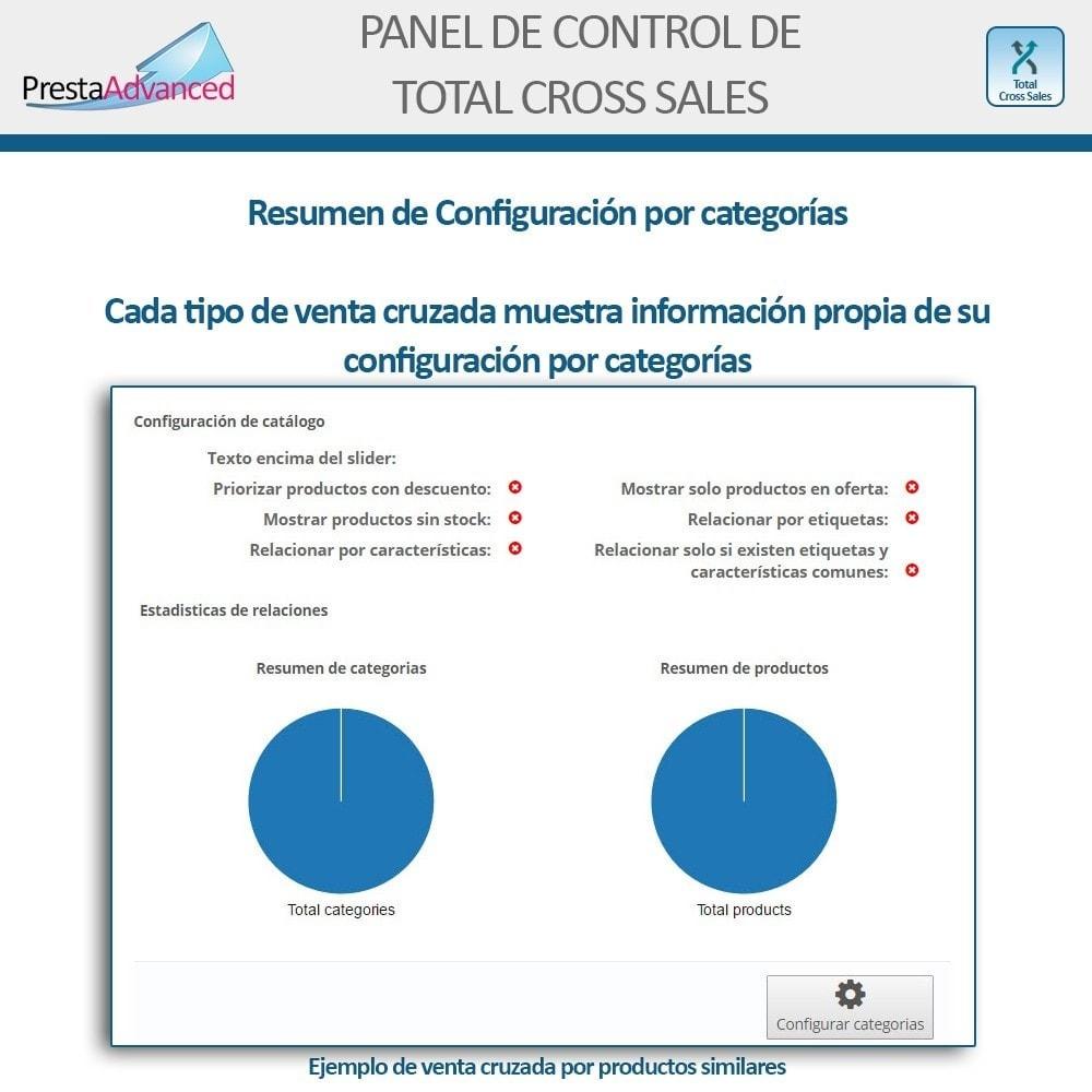 module - Ventas cruzadas y Packs de productos - Total Cross Sales - configuración de ventas cruzadas - 31