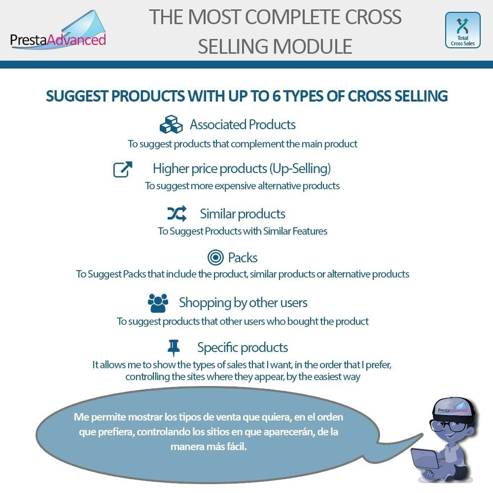 module - Cross-selling & Product Bundles - Total Cross Sales - Cross-selling Set up and control - 2