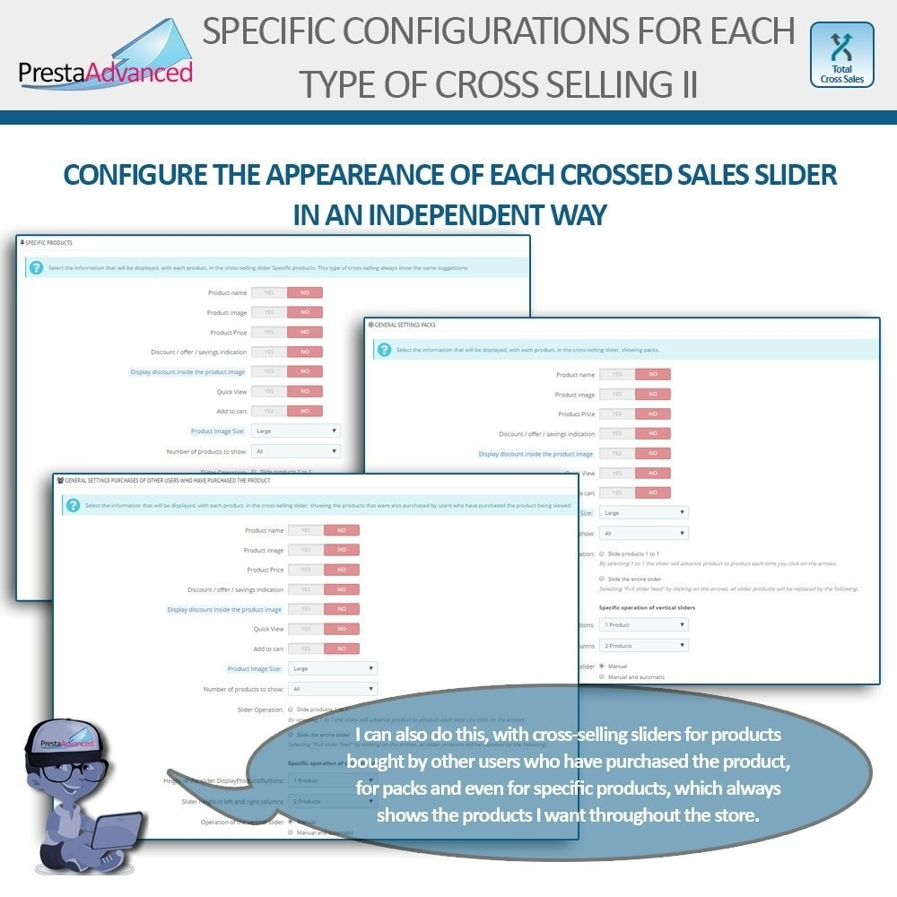 module - Cross-selling & Product Bundles - Total Cross Sales - Cross-selling Set up and control - 5