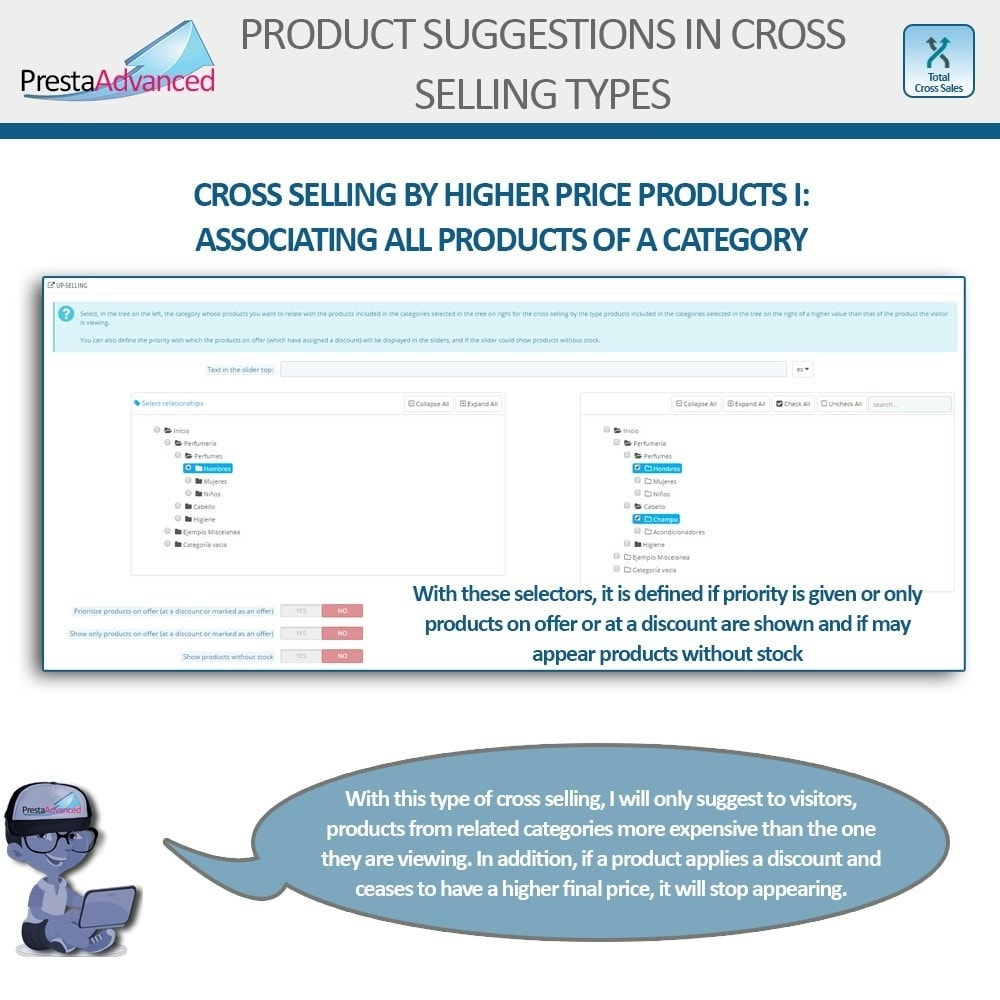 module - Cross-selling & Product Bundles - Total Cross Sales - Cross-selling Set up and control - 12