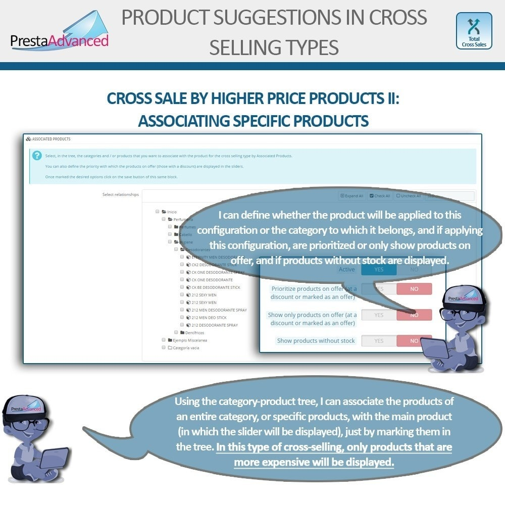 module - Cross-selling & Product Bundles - Total Cross Sales - Cross-selling Set up and control - 13
