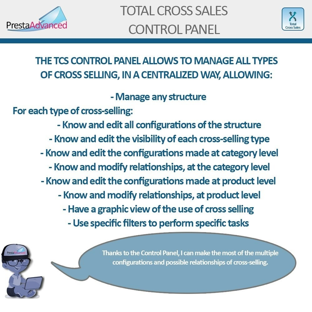 module - Cross-selling & Product Bundles - Total Cross Sales - Cross-selling Set up and control - 27