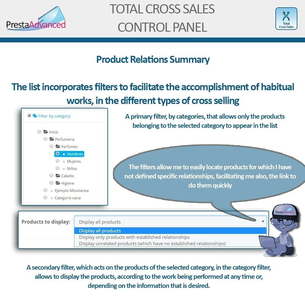 module - Cross-selling & Product Bundles - Total Cross Sales - Cross-selling Set up and control - 36