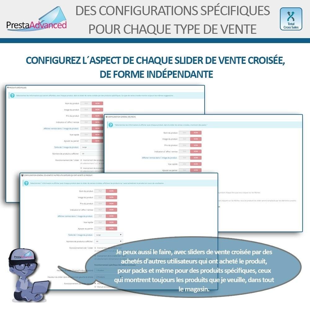 module - Ventes croisées & Packs de produits - Total Cross Sales - Configuration des ventes croisées - 5