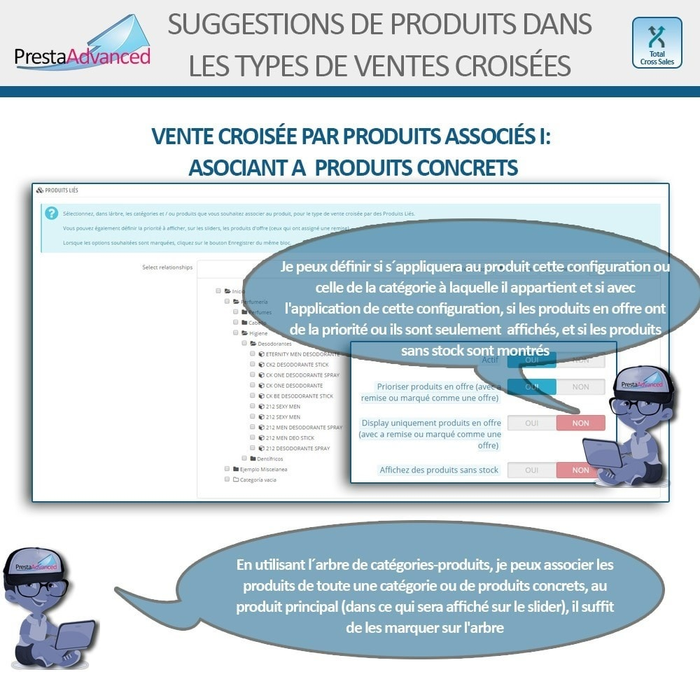 module - Ventes croisées & Packs de produits - Total Cross Sales - Configuration des ventes croisées - 11