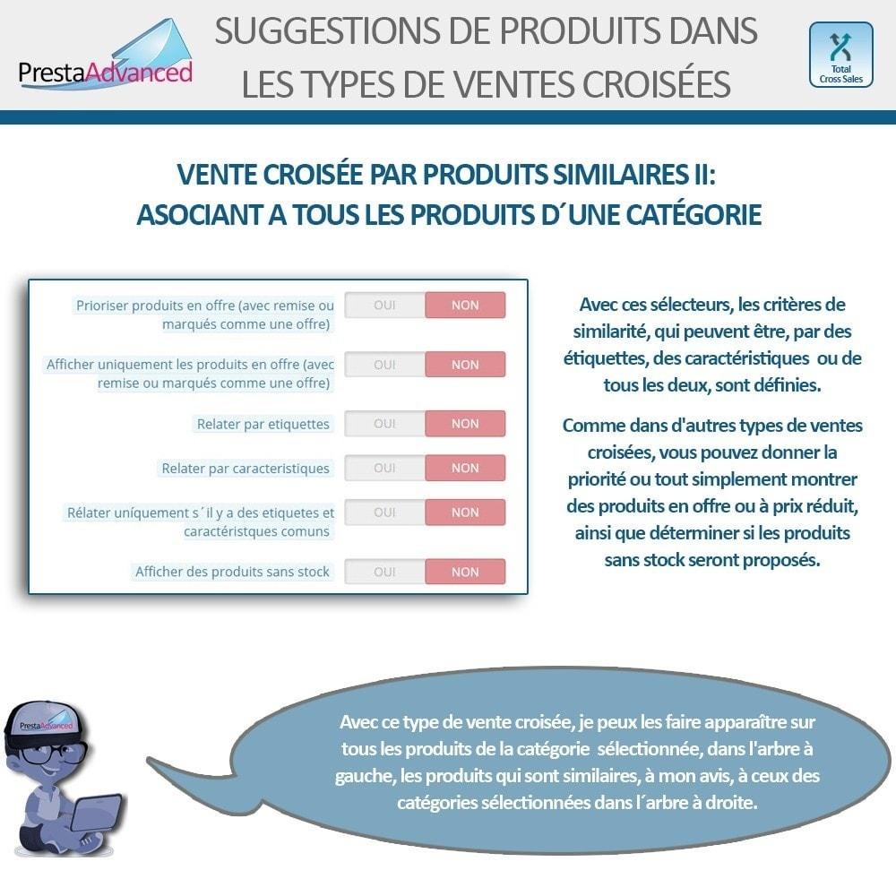 module - Ventes croisées & Packs de produits - Total Cross Sales - Configuration des ventes croisées - 15