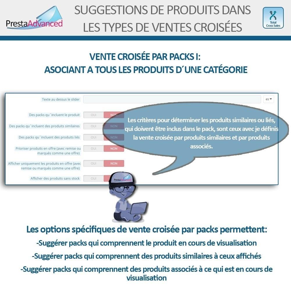 module - Ventes croisées & Packs de produits - Total Cross Sales - Configuration des ventes croisées - 18