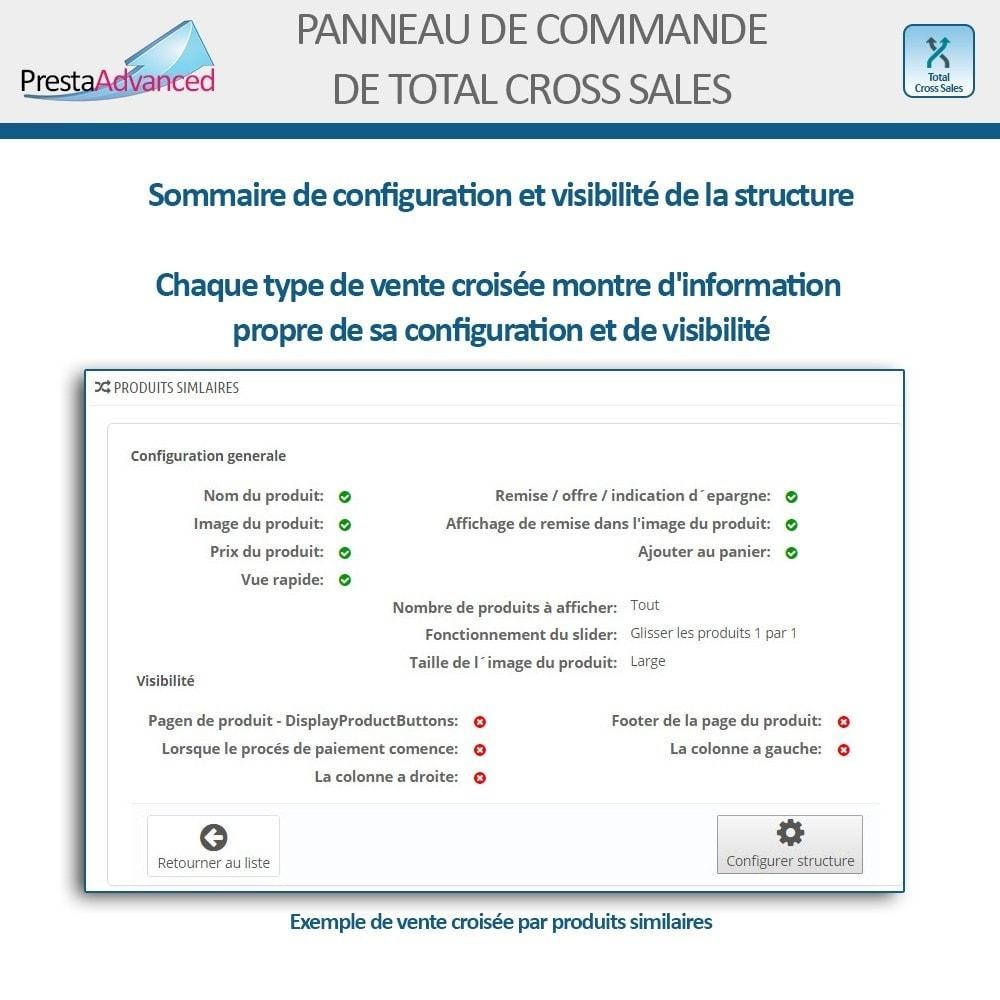 module - Ventes croisées & Packs de produits - Total Cross Sales - Configuration des ventes croisées - 26