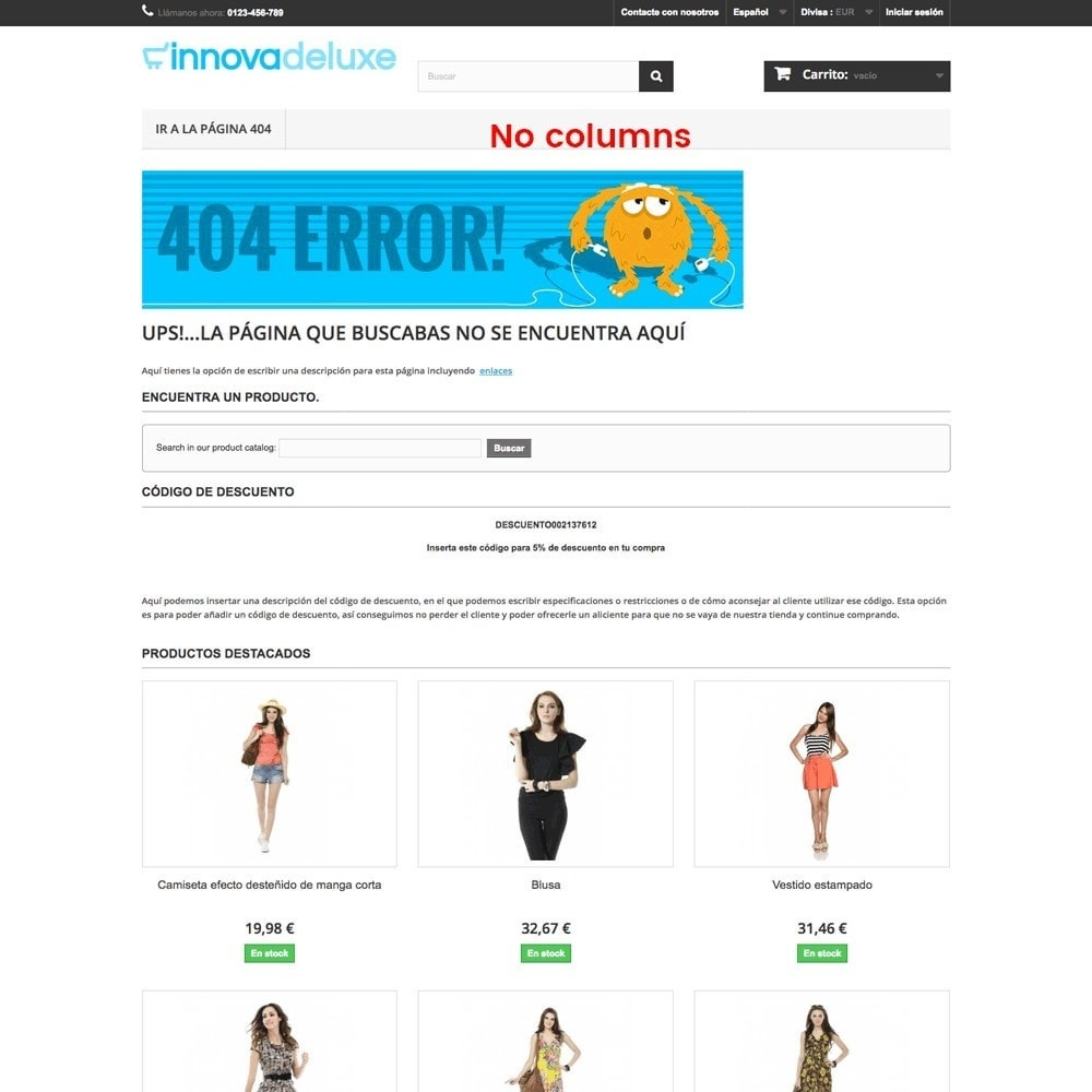 module - URL & Przekierowania - Customization of the 404 error page - 15