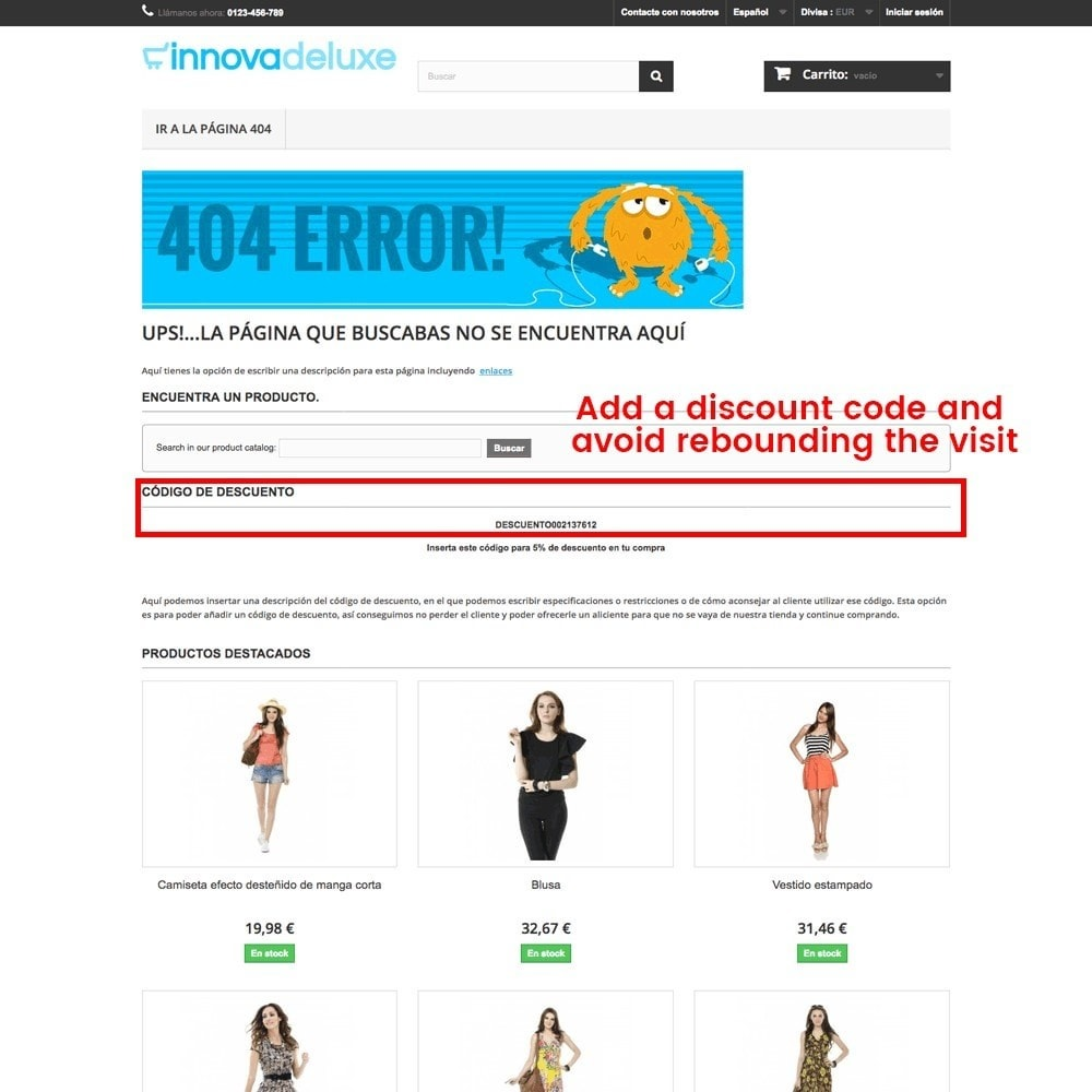 module - URL & Przekierowania - Customization of the 404 error page - 21