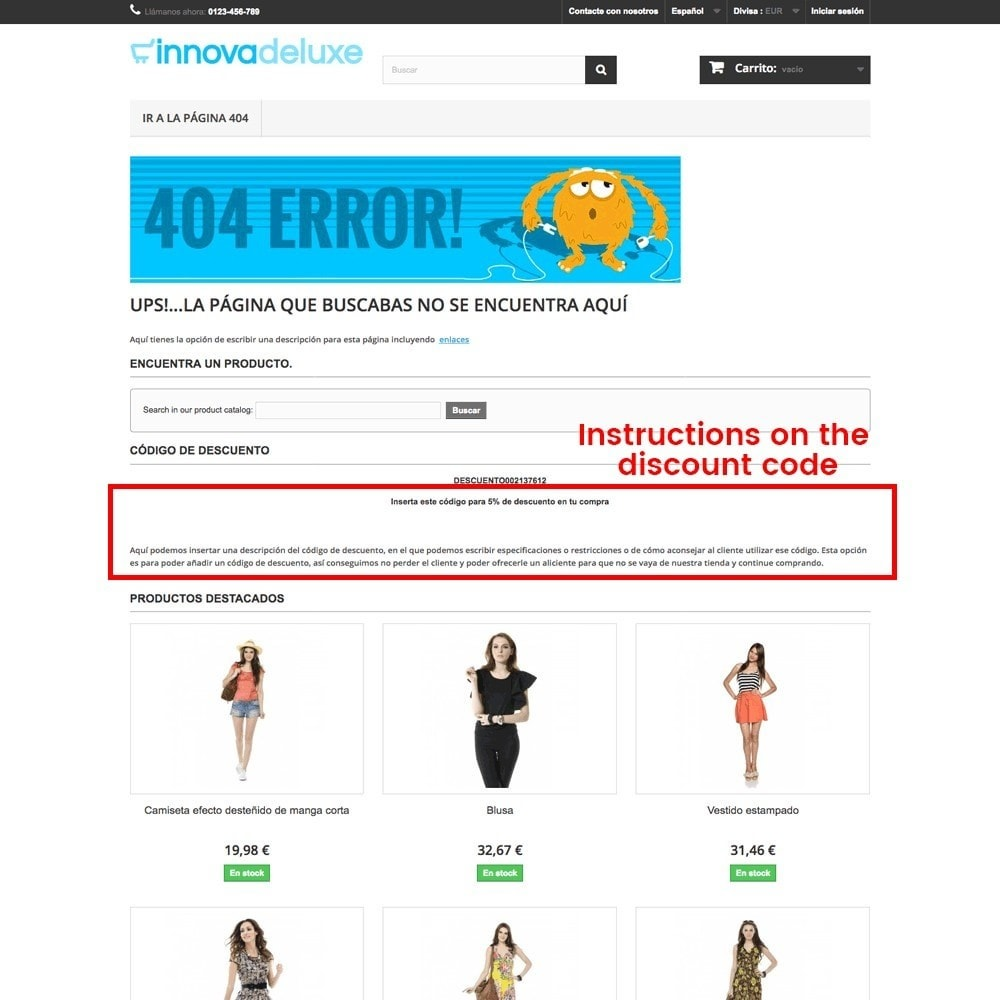 module - URL & Przekierowania - Customization of the 404 error page - 23