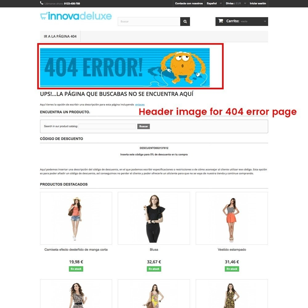 module - URL & Przekierowania - Customization of the 404 error page - 25
