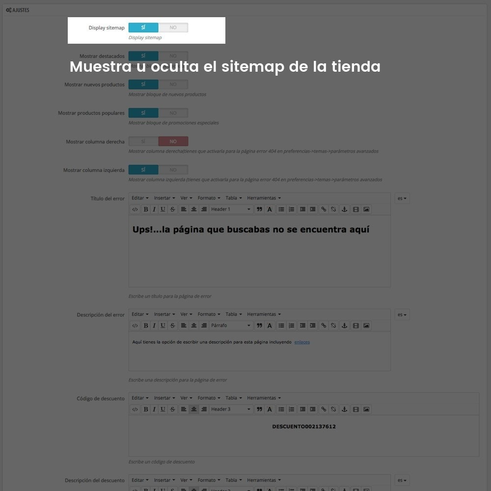 module - URL y Redirecciones - Personalización de la página de error 404 - 3