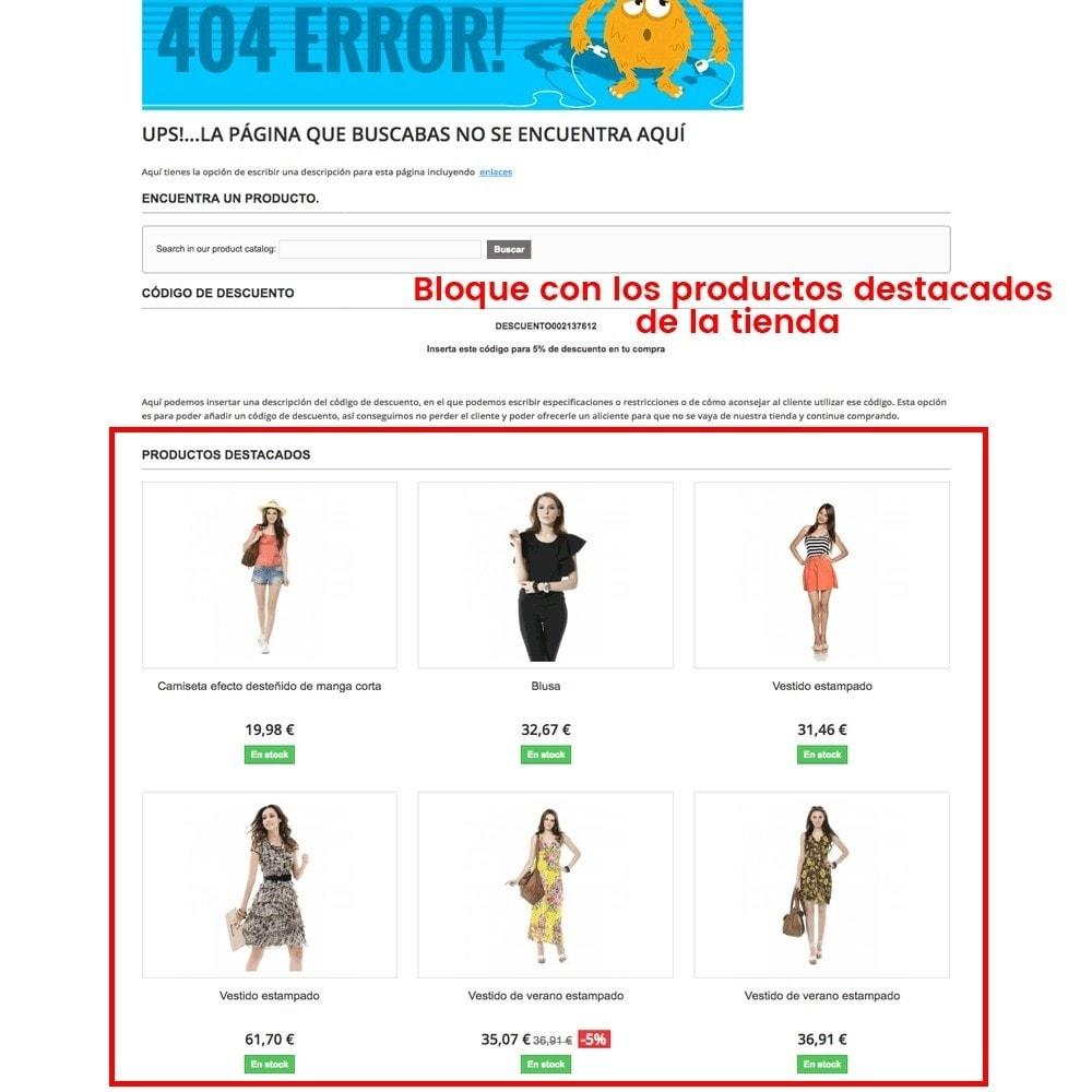 module - URL y Redirecciones - Personalización de la página de error 404 - 6