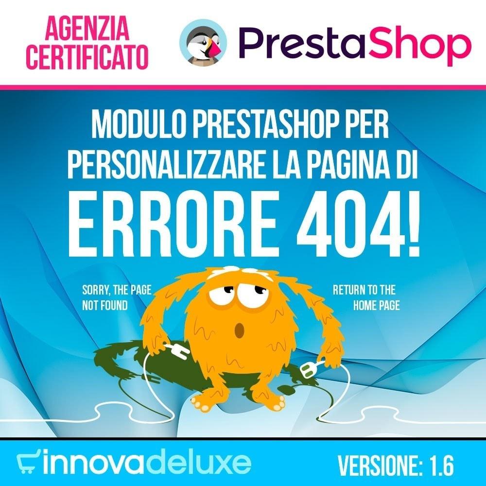 module - URL & Redirect - Personalizzare la pagina di errore 404 - 1