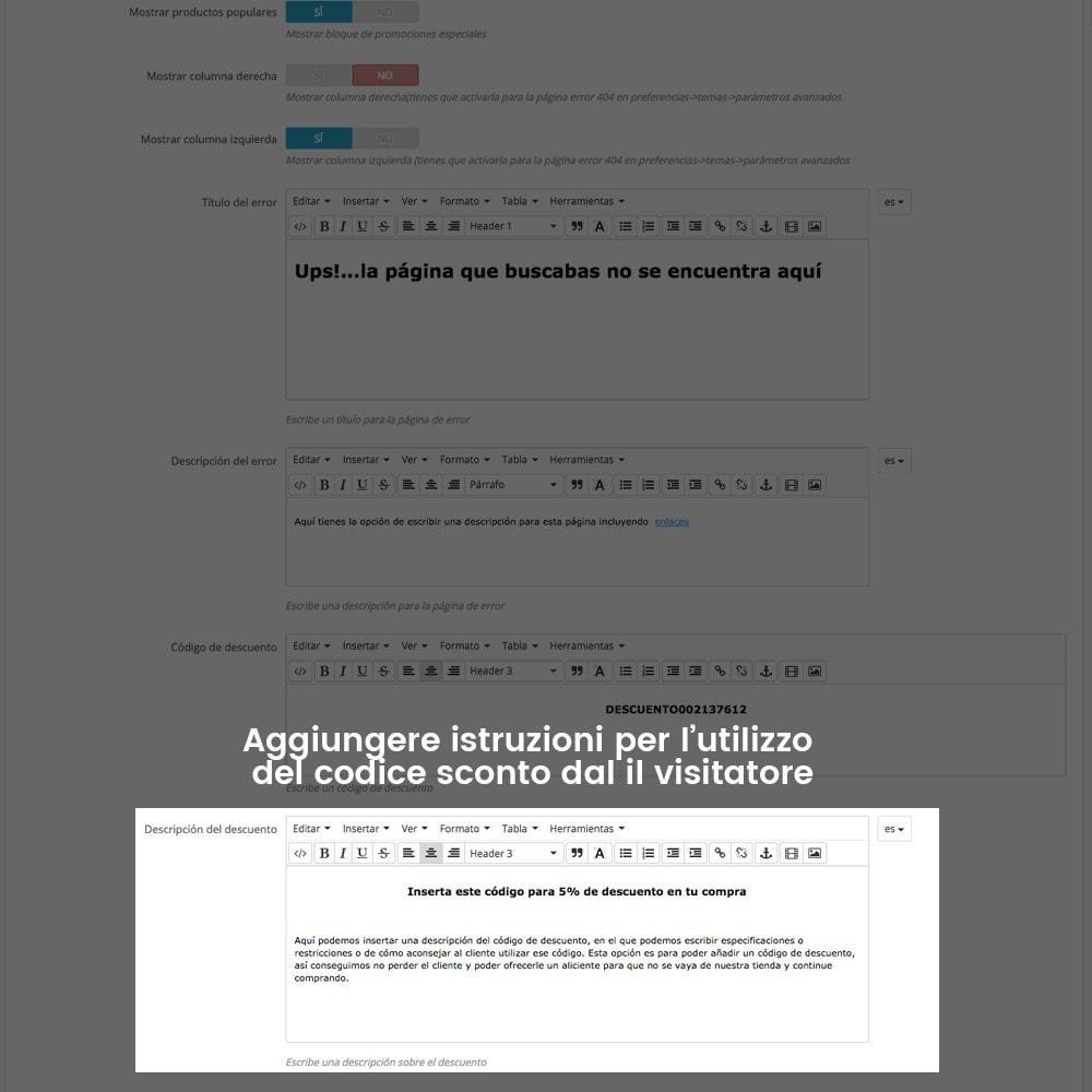 module - URL & Redirect - Personalizzare la pagina di errore 404 - 22