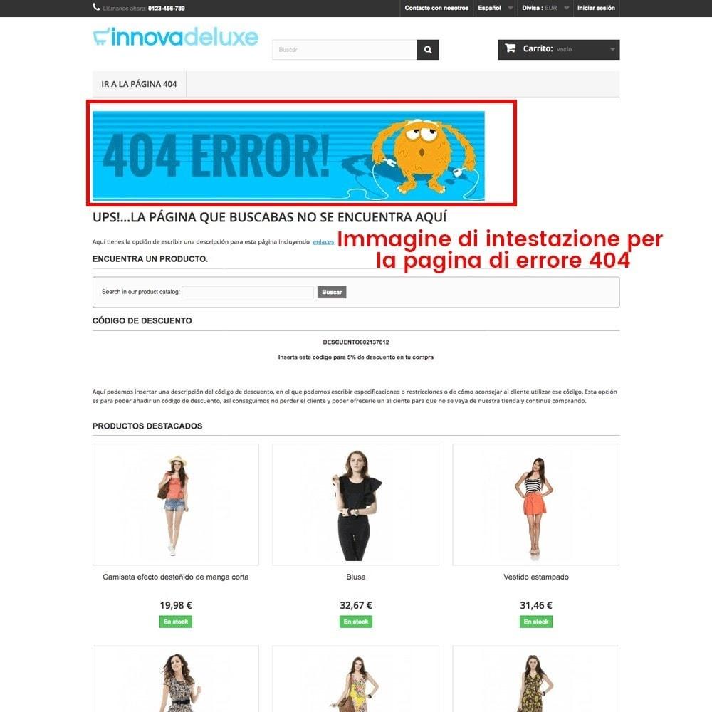 module - URL & Redirect - Personalizzare la pagina di errore 404 - 25