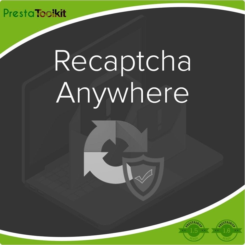 module - Безопасности и доступа - Recaptcha Anywhere - 1