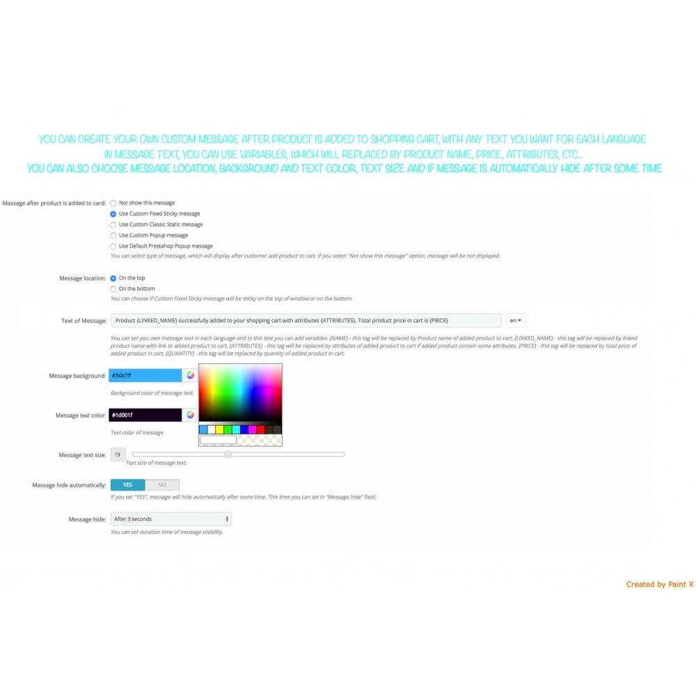 module - Iscrizione e Processo di ordinazione - Effetto volo del prodotto nel carrello, popup ed altro - 5