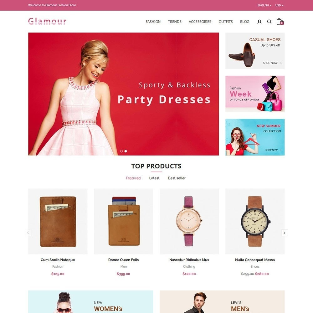 theme - Mode & Chaussures - Glamour Fashion Store - 2