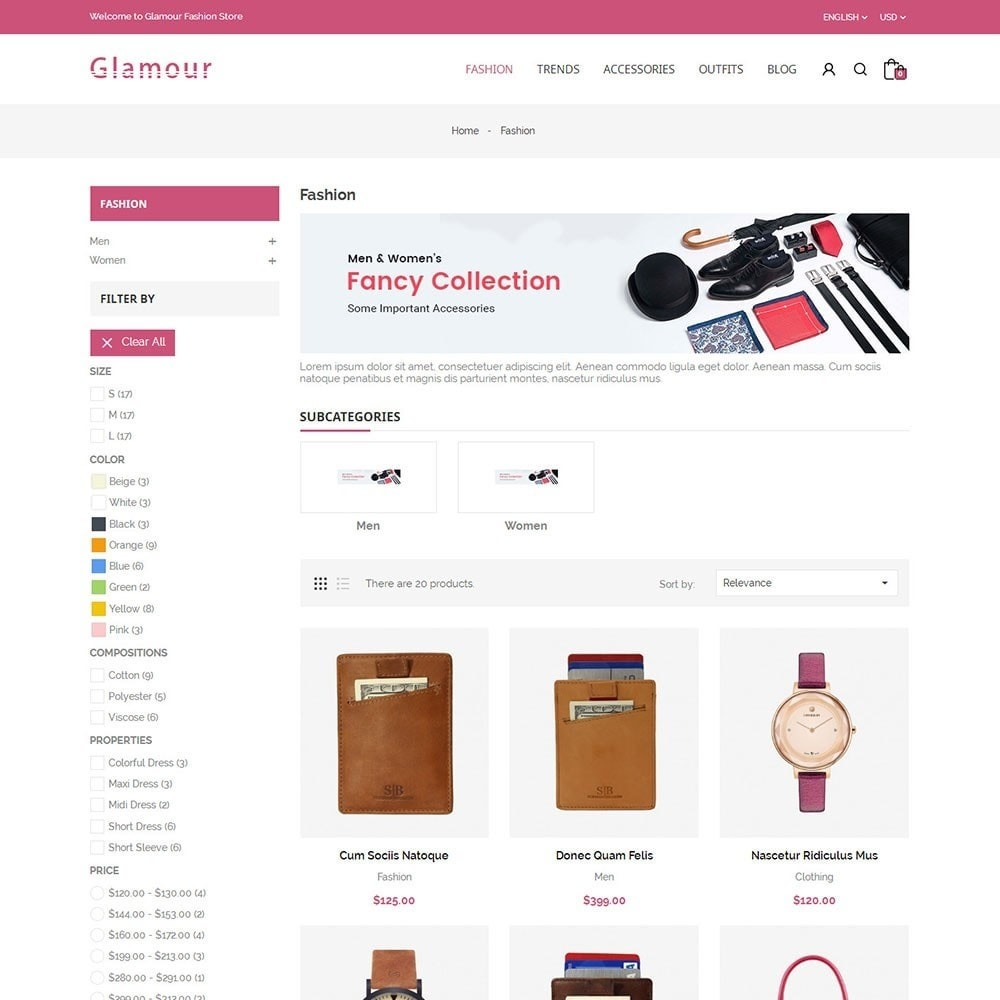 theme - Mode & Chaussures - Glamour Fashion Store - 3