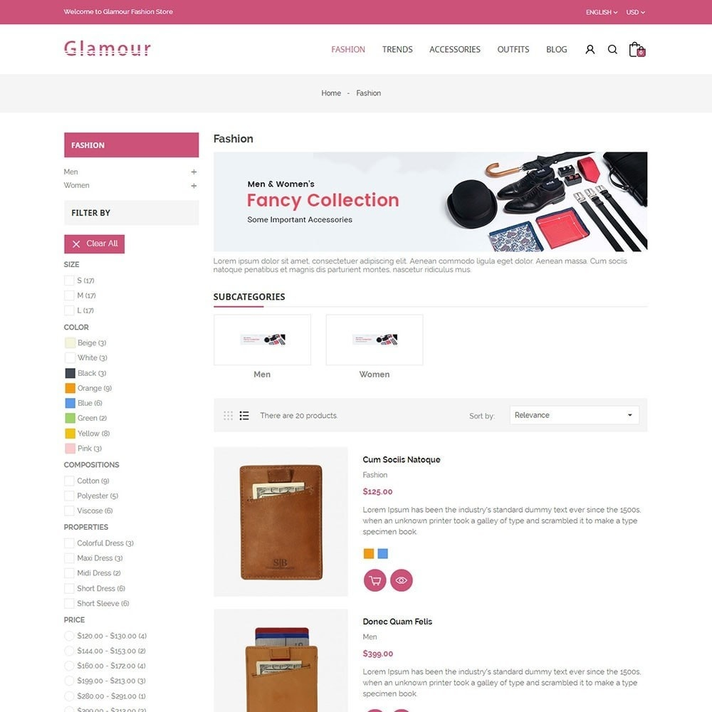 theme - Mode & Chaussures - Glamour Fashion Store - 4