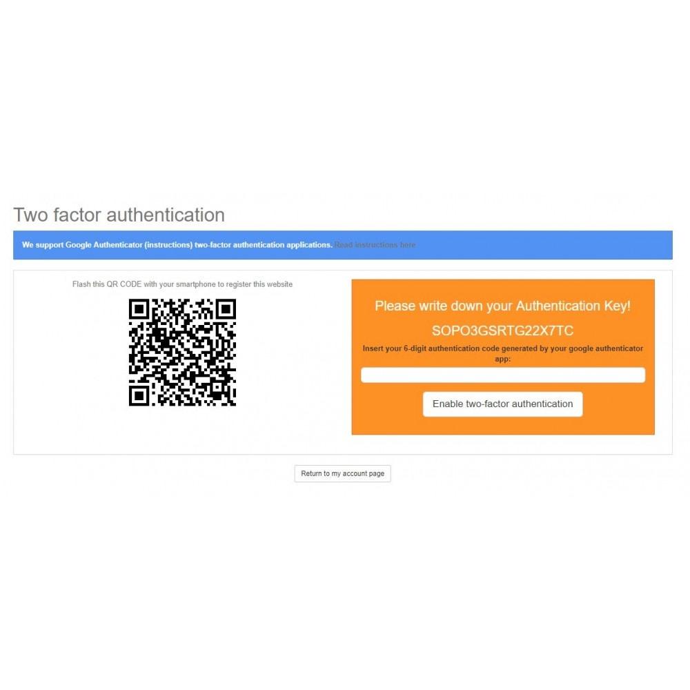 module - Social Login & Connect - Google Authenticator (2FA) - 3