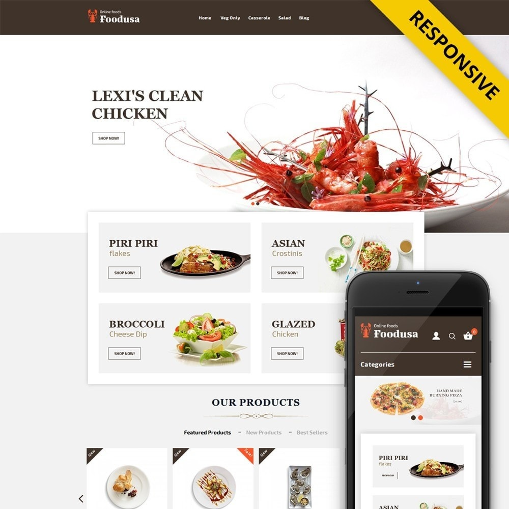 theme - Lebensmittel & Restaurants - Foodusa Store - 1