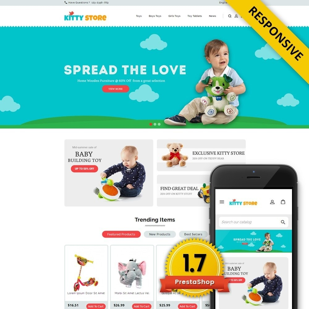 theme - Kids & Toys - KittyStore - Online Toys Store - 1