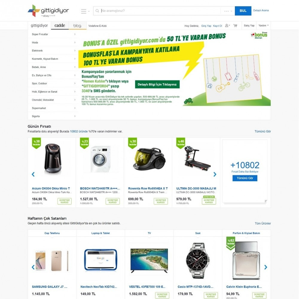 module - Platforma handlowa (marketplace) - Gittigidiyor Product feed - 2