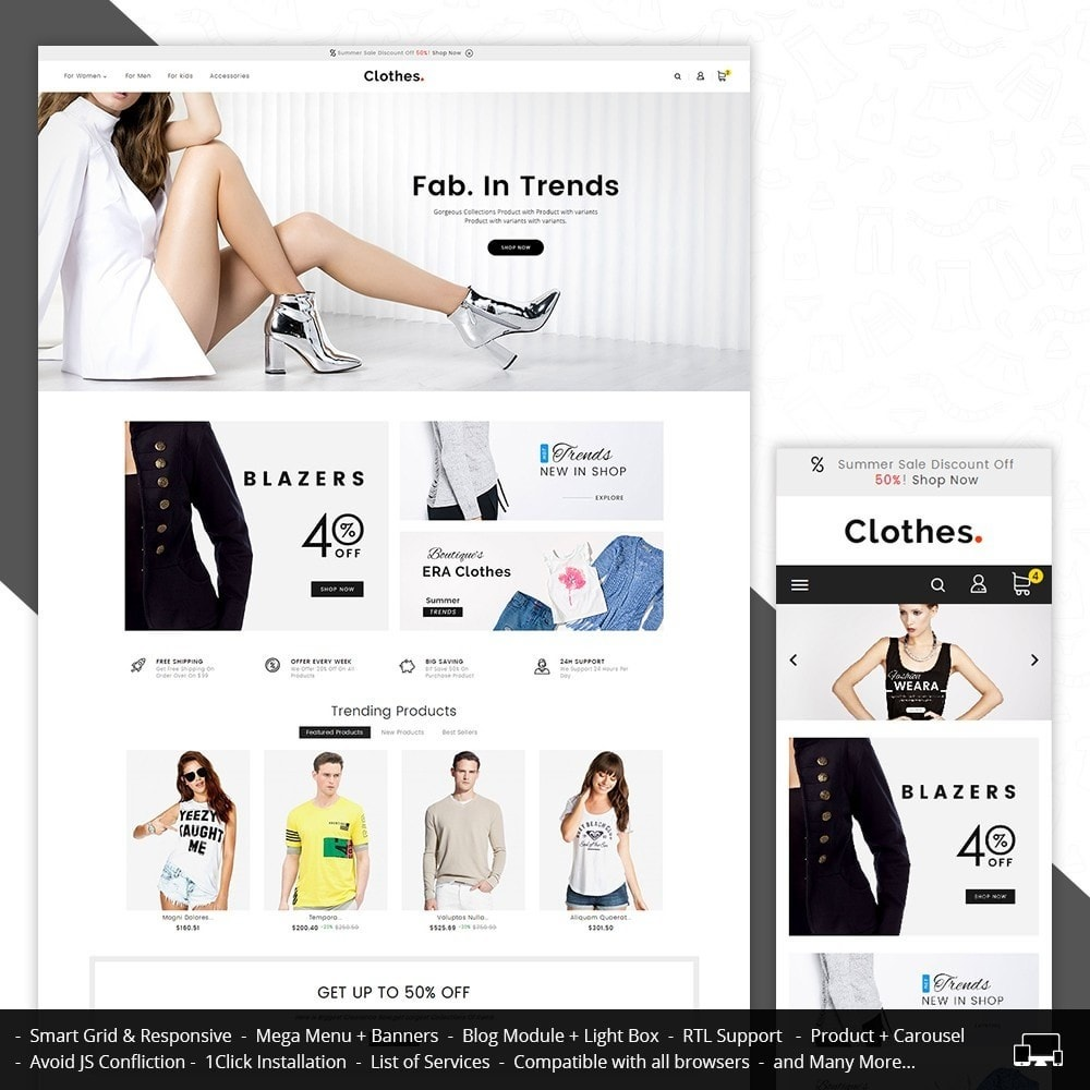 theme - Fashion & Shoes - Fashion Clothes - 1