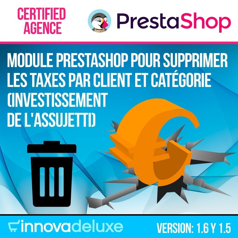 module - B2B - Suppression des taxes (clients/catégories) - 1